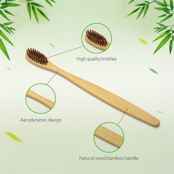 Natural Customized Bamboo Toothbrush Hotel