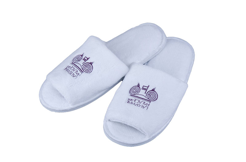 Customized Open Toe Hotel Slippers