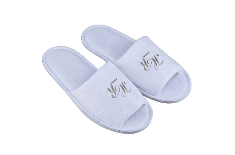Eco-friendly Open Toe Hotel Slippers