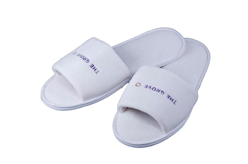 Luxury Hotel Bedroom Open Toe Slippers