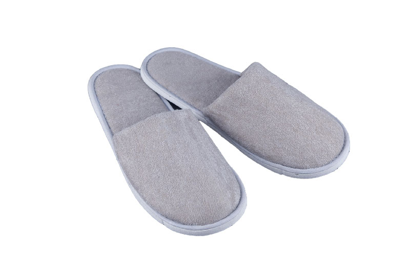 Promotional Grey Terry Slipper For Hotel