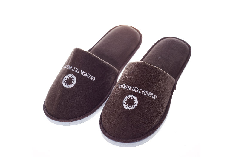 Black Hotel Disposable Slipper