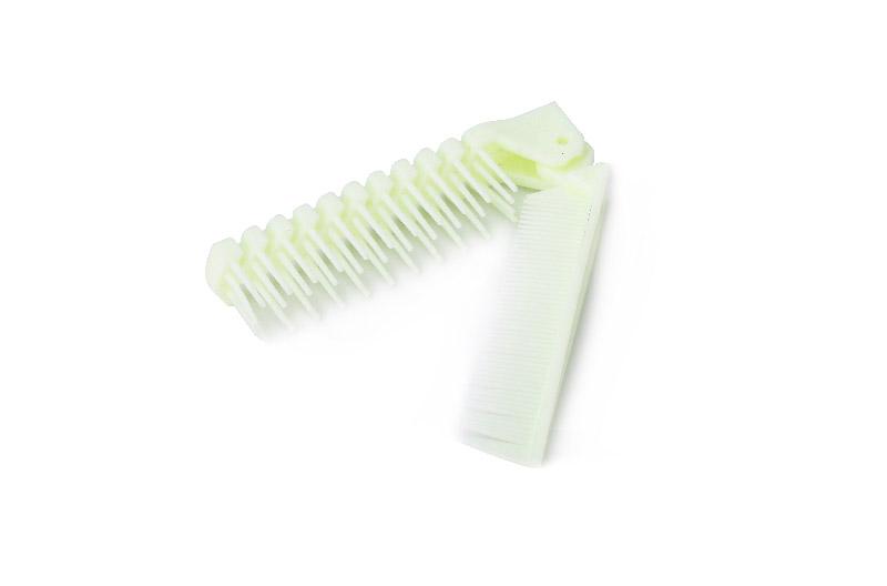 Foldable Plastic Hotel Comb