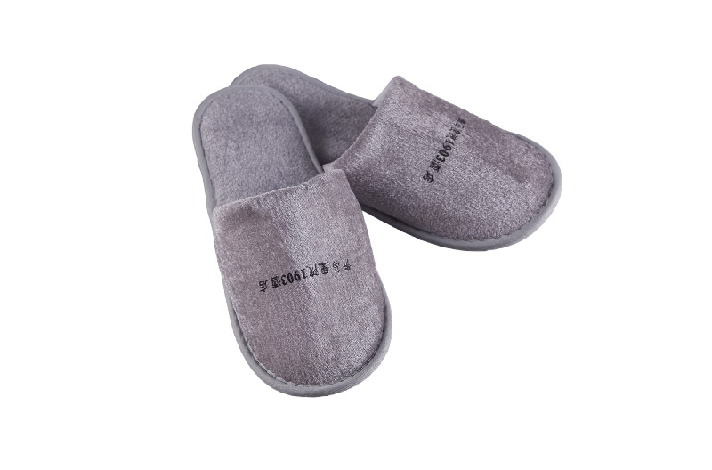 Cotton Grey Slipper For Hotel